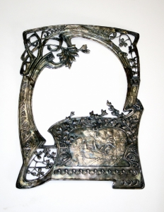 Серебряная рамка в стиле модерн