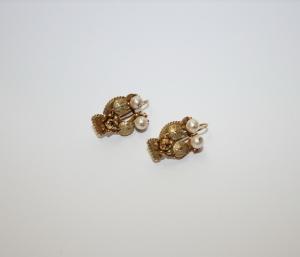 Серьги золотые в этрусском стиле