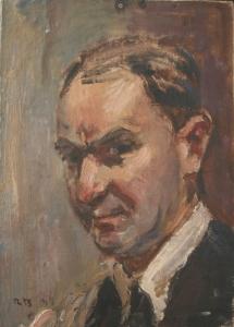 Неизвестный художник два мужских портрета