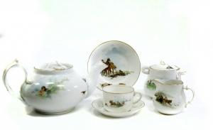 Чайный сервиз (на шесть персон) завода братьев Корниловых