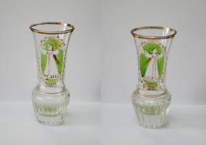 Пара стеклянных агитационных вазочек