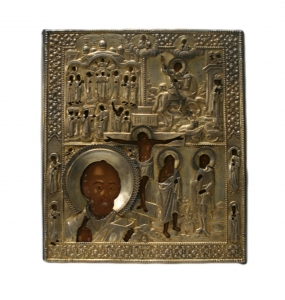 Четырехчастная икона с Распятием