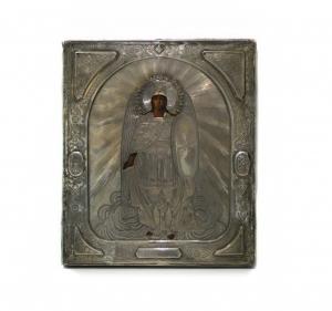 Икона в серебряном окладе «Святой Архистратиг Михаил Архангел»
