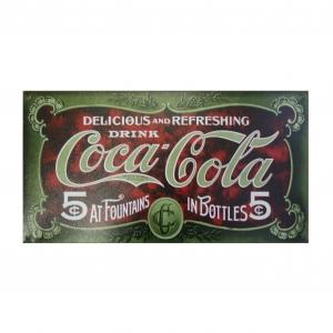 Металлический рекламный постер фирмы