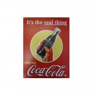 Металлический рекламный постер компании
