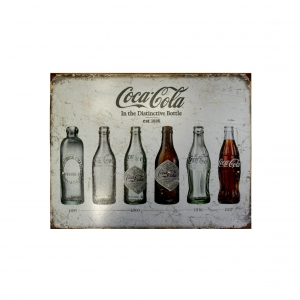 Металлический рекламный постер