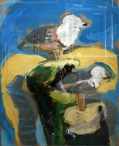 Кац Мане  «Голубая абстракция»