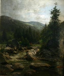 Наберт Вильгельм Юлиус Август «Каменистый горный ручей»