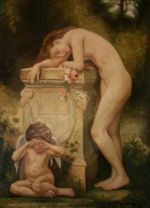 Сонжан П. (P. Sonjiahn) «Девушка с плачущим ангелом»