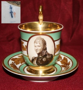 Чайная пара «Портрет царя Александра I»