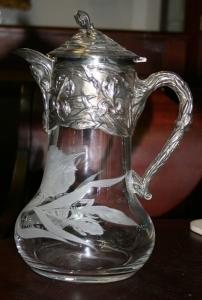 Серебряный кувшин для вина в стиле модерн (2 шт.)