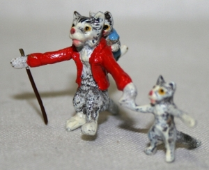 Папа кот с котятами