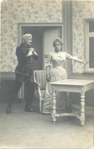 Открытка «Театральная сцена»