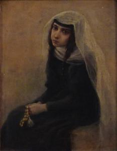 Неизвестный художник «Грузинская девочка»
