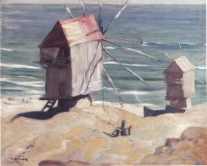 Неизвестный художник «Мельницы на берегу моря»