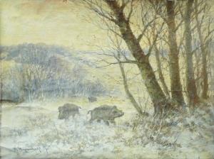 Неизвестный художник «В лесу»
