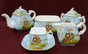 Чайный сервиз на двенадцать персон «Цветы у пруда»