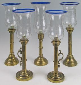 Свечная лампа со стеклянным плафоном