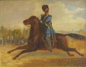 Рюдхолм Свен Леонард  «Скачущий русский офицер атаманского полка»