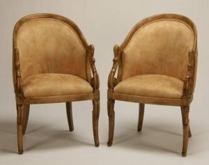 Парные кресла с лебедями