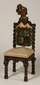 Декоративный стул рыцарской тематики в Венецианском стиле