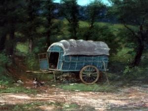 Гюстав Курбе  «Домик на колесах»