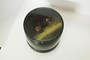 Шкатулка круглая