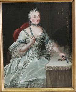 Неизвестный художник «Портрет царицы Елизаветы Петровны в бытность её Великой герцогиней»