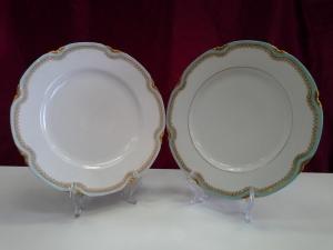 Тарелка с голубой каемочкой (2шт)