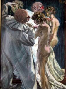 Монограммист «B. mar.» «Актеры у зеркала»