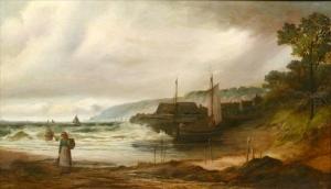 Неизвестный художник «Женщина на берегу»