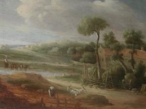 Монограммист «AE» «Сельский пейзаж»