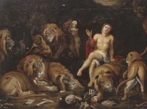 Тюльден Теодор Ван (Theodoor van Thulden) «Даниил среди львов»