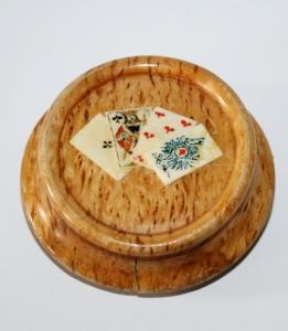 Щетка для сукна ломберного стола с изображением игральных карт