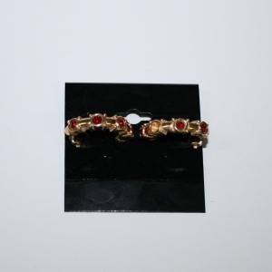 Серьги-клипсы с красными кристаллами