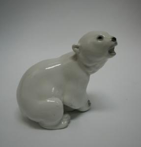 Фарфоровая скульптура «Белый медведь»